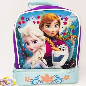 Frozen Lunch Kit Tote Insulated Two Compartments